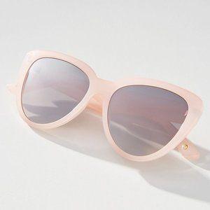 Blush Pink Mirrored Taron Oversized Sunglasses